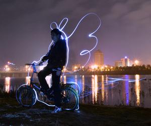 angel, bike, and boy image