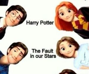 harry potter, the hunger games, and fandoms image