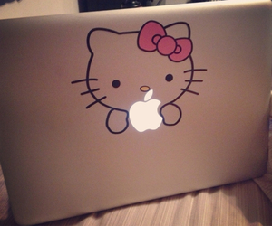 hello kitty, apple, and pink image