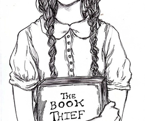 book, the book thief, and draw image