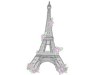 paris, overlay, and flowers image