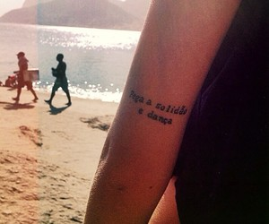 tattoo, beach, and solidao image
