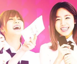 hayoung, namjoo, and a pink image