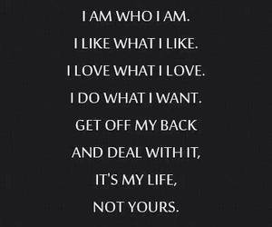 quote, life, and me image