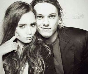 lily collins, Jamie Campbell Bower, and the mortal instruments image
