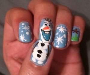 nails, olaf, and snowman image