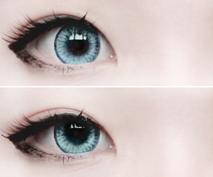 eyes, blue, and kawaii image