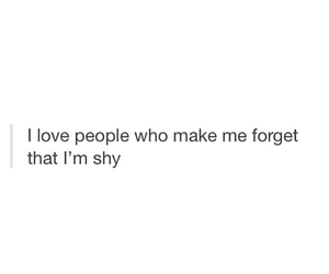 quote, shy, and love image