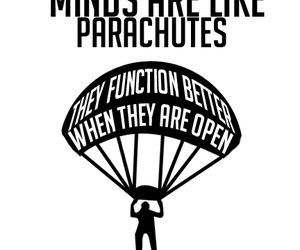 mind, parachute, and quotes image
