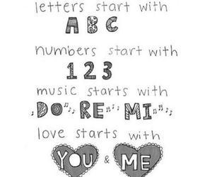 love, ABC, and 123 image