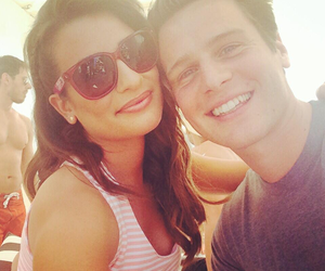 lea michele, glee, and jonathan groff image