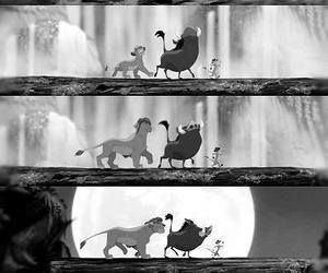 Best, black and white, and disney image