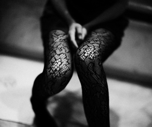 black and white, legs, and tights image