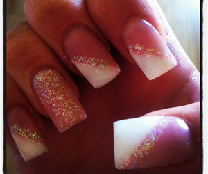 girl, nails, and sparkle image