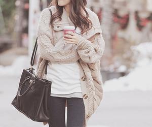 fashion, bag, and coffee image