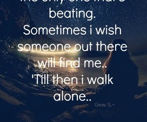 alone, sometimes, and Dream image
