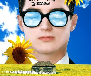 clouds, sunflowers, and elijah wood image