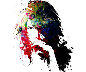 beautiful, girl, and paiting image