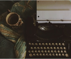 coffee and typewriter image