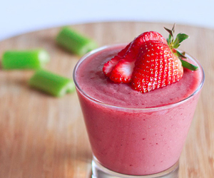 pink, strawberry, and smoothie image