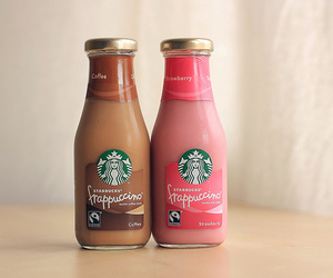 starbucks, strawberry, and coffee image