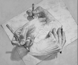art, draw, and hands image
