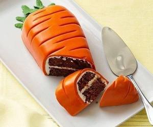 cake, carrot, and food image