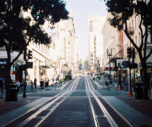 city, street, and photography image