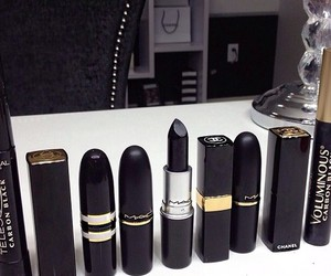 lipstick, black, and mac image