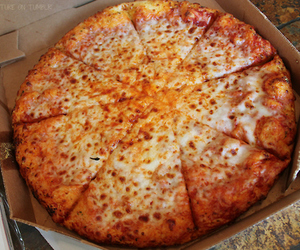 cheese, pizza, and food image