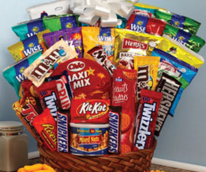basket, candy, and chips image