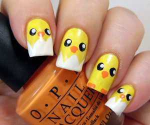 nails, easter, and chicks image