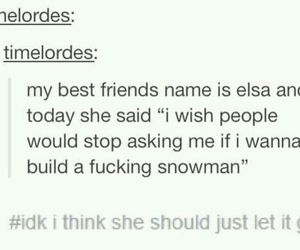 funny, frozen, and snowman image