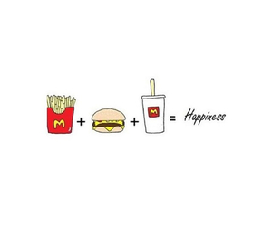 food, happiness, and McDonalds image