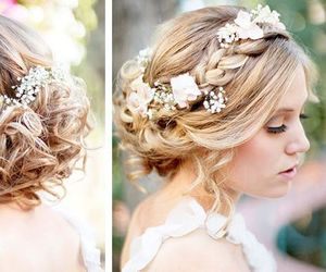beauty, bride, and hairstyle image