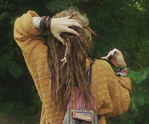 hippie, dreads, and rasta image