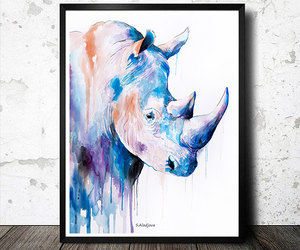 art, etsy, and modern painting image
