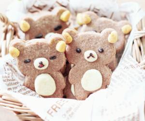 Cookies, rilakkuma, and food image
