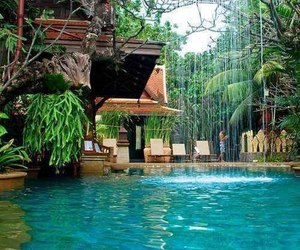 pool, water, and paradise image