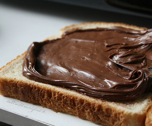 food, nutella, and bread image