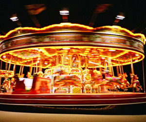 carrousel, lights, and photography image