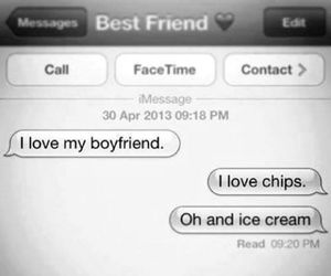 love, boyfriend, and food image