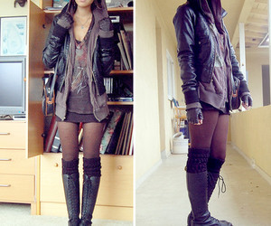 boots, leather, and socks image