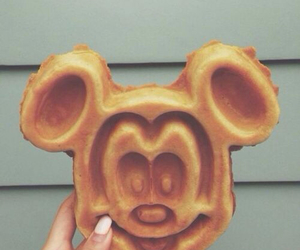 food, waffles, and disney image