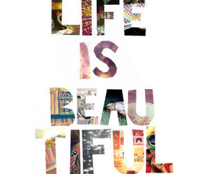 life, beautiful, and text image