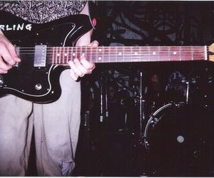 grunge, guitar, and dark image