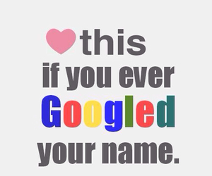 google, name, and heart image