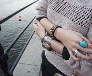 nails, bracelet, and fashion image