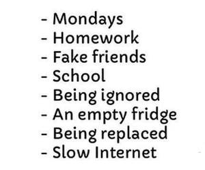 monday, school, and homework image