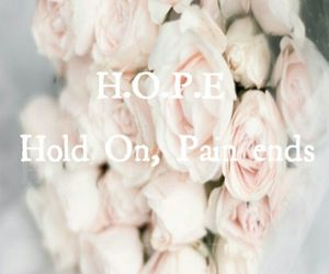 ends, flower, and hope image